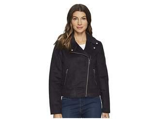 Andrew Marc Farryn Faux Suede 21 Moto Jacket Women's Coat