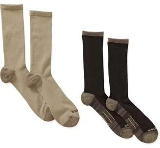 Dickies Genuine Men's Office-to-Casual Crew Socks, 2-Pack