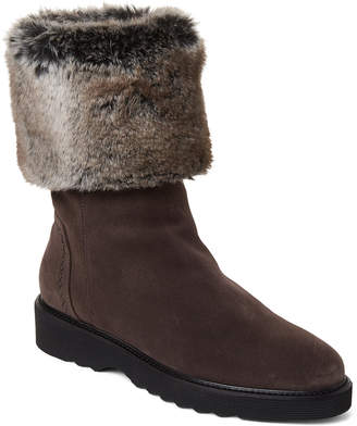 Aquatalia by Marvin K Dark Grey Kathy Suede Faux Fur Waterproof Boots