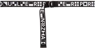 Proenza Schouler Black PSWL Webbing Logo Belt