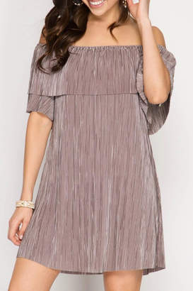 She + Sky Pleat Perfection Dress