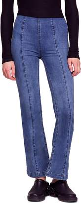 Free People Slim Pull-On Flare Jeans