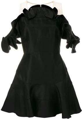 Antonio Berardi satin ruffle trim dress
