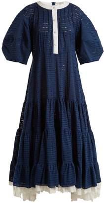 Natasha Zinko Broderie-anglaise puff-sleeved cotton dress