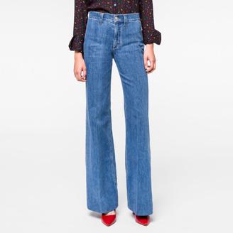 Women's Light-Wash Denim Bell Bottom Jeans $220 thestylecure.com