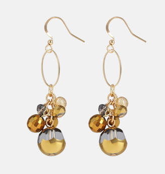 Avenue Tonal Bronze Bead Drop Earring