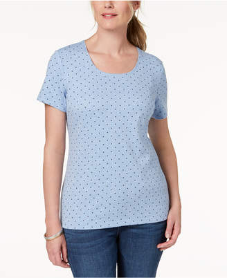 Karen Scott Dot Print T-Shirt, Created for Macy's