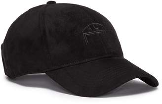 A-Cold-Wall* Logo embroidered faux suede baseball cap