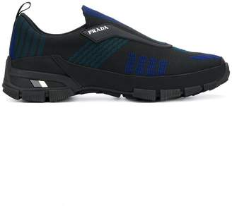 Prada ribbed slip-on sneakers