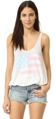 Wildfox Sunbleached Flag Tank $68 thestylecure.com