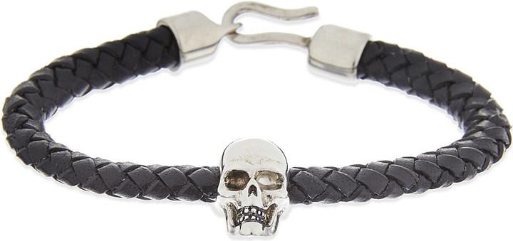 Alexander McQueenAlexander Mcqueen Leather skull bracelet