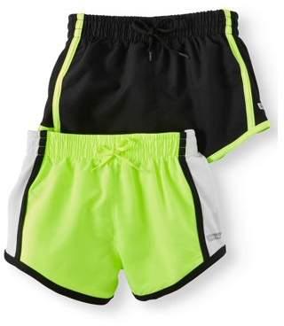 HIND Active Shorts, 2-Pack (Little Girls & Big Girls)