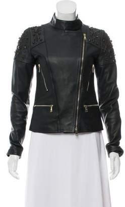 Amen Embellished Leather Jacket