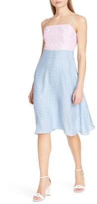 HVN Nora Bias Cut Silk Dress
