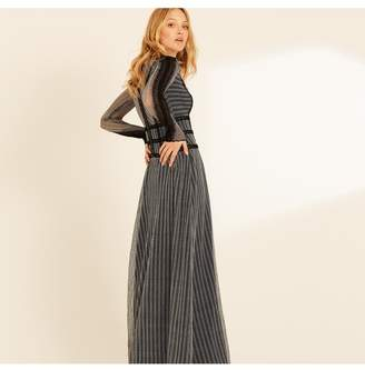 Amanda Wakeley Herringbone Lace Long Dress