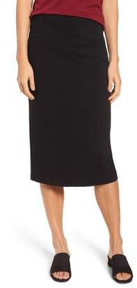 Eileen Fisher High Waist Midi Pencil Skirt