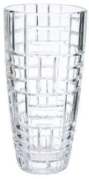 Mikasa Mosaic Large Crystal Vase