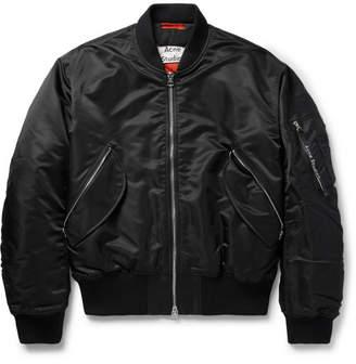 Acne Studios Mayo MA-1 Shell Bomber Jacket - Black