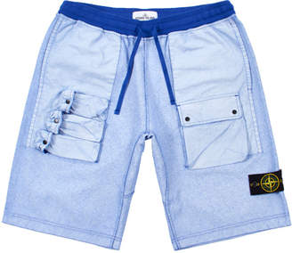 Stone Island Shorts Felpa Placcata - Blue
