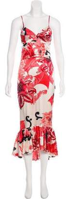 Just Cavalli Silk-Blend Maxi Dress