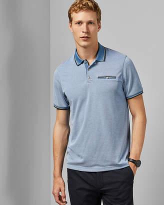 Ted Baker PARDO Flat knit polo shirt