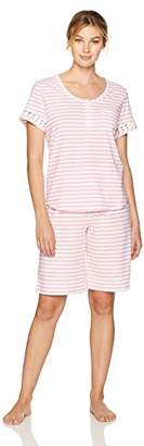 Karen Neuburger Women's Girlfriend Short Sleeve Crop Pajamas Set Pj