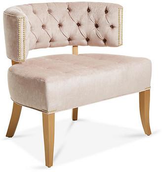 Haute House Babette Accent Chair - Dusty Rose Chenille