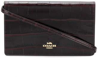 Coach crocodile effect clutch bag