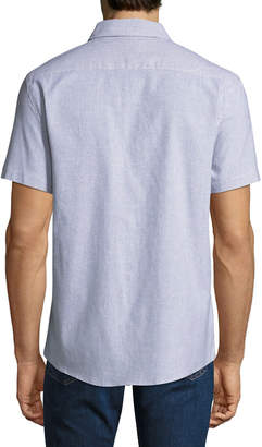 Sovereign Code Men's Kidd Striped Pocket Short-Sleeve Sport Shirt