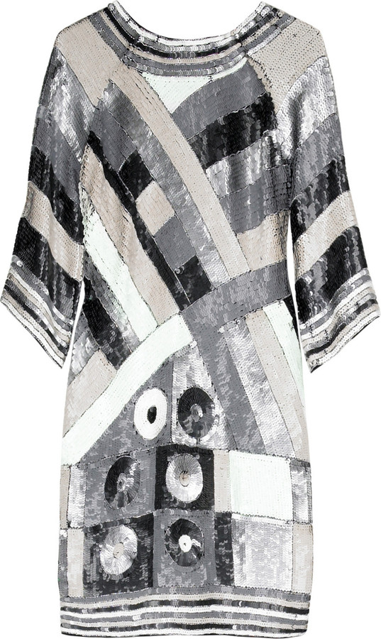 Maje Sequined tunic dress