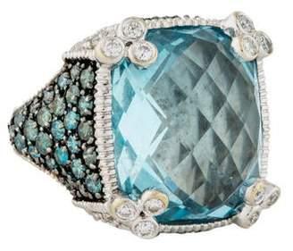 Judith Ripka Monaco Topaz & Diamond Cocktail Ring