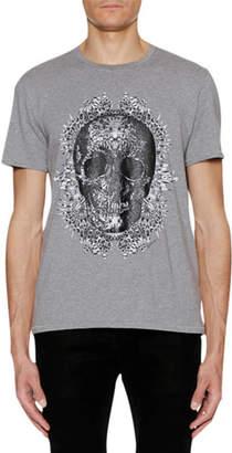 Just Cavalli Men's Skull-Graphic Crewneck Short-Sleeve Cotton T-Shirt