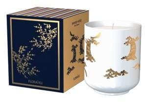 Floraiku Smoked Wood Candle Tea Cup/4.6 oz.