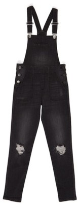 Girl's Treasure & Bond Distressed Skinny Overalls $65 thestylecure.com