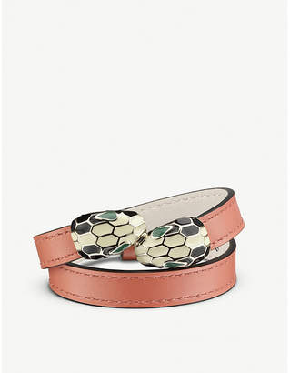 Bvlgari Serpenti Forever leather wrap bracelet