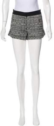 Robert Rodriguez Mid-Rise Tweed Shorts