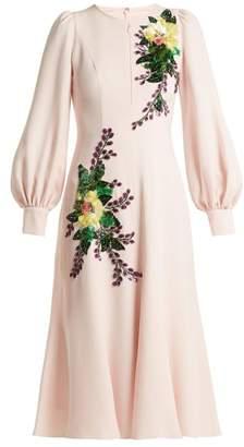 Andrew Gn Sequin-embellished crepe midi dress