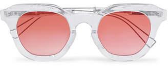 Rejina Pyo - Projekt Produkt Cat-eye Acetate Sunglasses - White