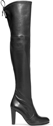 Stuart Weitzman - Highland Leather Over-the-knee Boots - Black $875 thestylecure.com