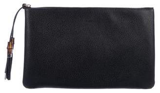 Gucci Bamboo Leather Pouch