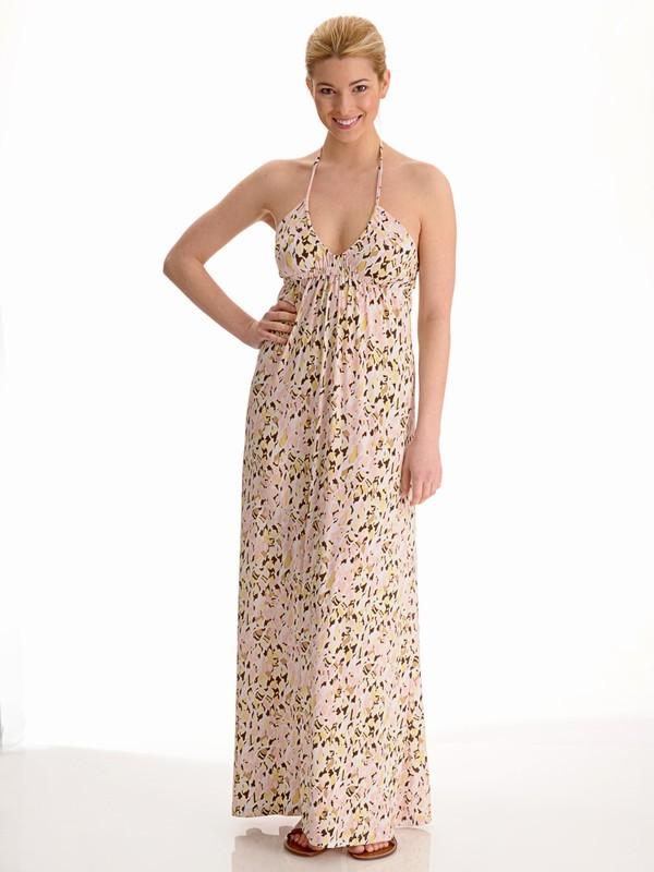 Veronica M Scoop Halter Maxi Dress