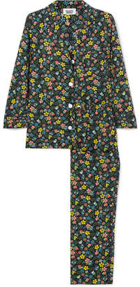 Sleepy Jones - Marina Floral-print Cotton Pajama Set - Green