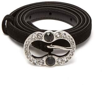 Prada Crystal-embellished suede belt