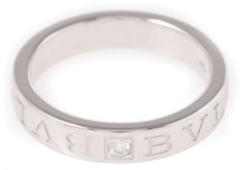 Bvlgari Bulgari Bvlgari 18K White Gold 0.01ct Diamond Ring Size 6.5