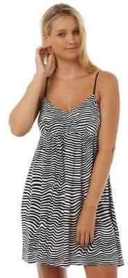 Volcom New Women's Thx Its A New Dress V-Neck Viscose Black 12