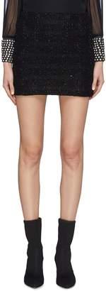 Alice + Olivia 'Elana' metallic tweed mini skirt