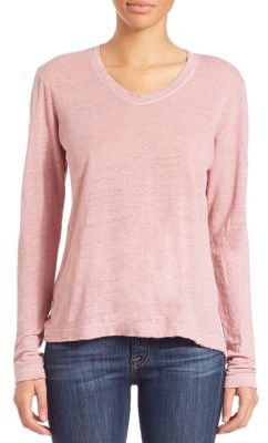 Wilt Raw-Hemmed Linen Long-Sleeved Tee