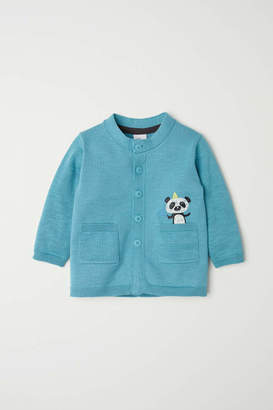 H&M Cardigan with Pockets - Turquoise/panda - Kids
