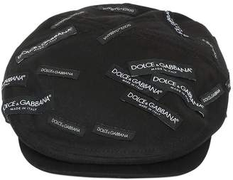 Dolce & Gabbana Logo Tags Cotton Twill Flat Cap