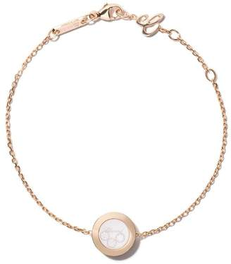 Chopard 18kt rose gold Happy Diamonds Icons bracelet